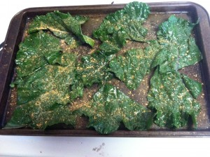 Recipe for baked kale chips